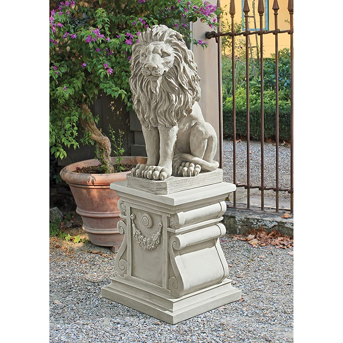 Design Toscano Mansfield Manor Lion Sentinel Statue, Set of 2
