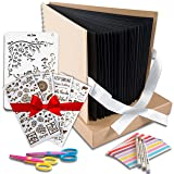 Scrapbook Photo Album DIY Kit,I Deal Wedding, Anniversary Book Family Memory Box w/Accessories - Keep Favorite Memories Alive - 80 Thick Pages, 320 Photos - Scrapbooking Birthday or Graduation Gift (Tamaño: 14