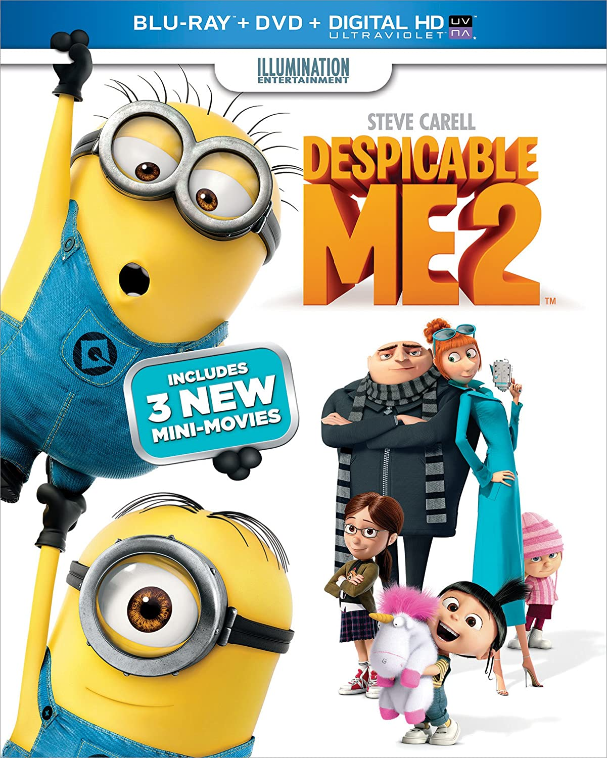 Despicable Me 2 (Blu-ray + DVD + Digital HD)
