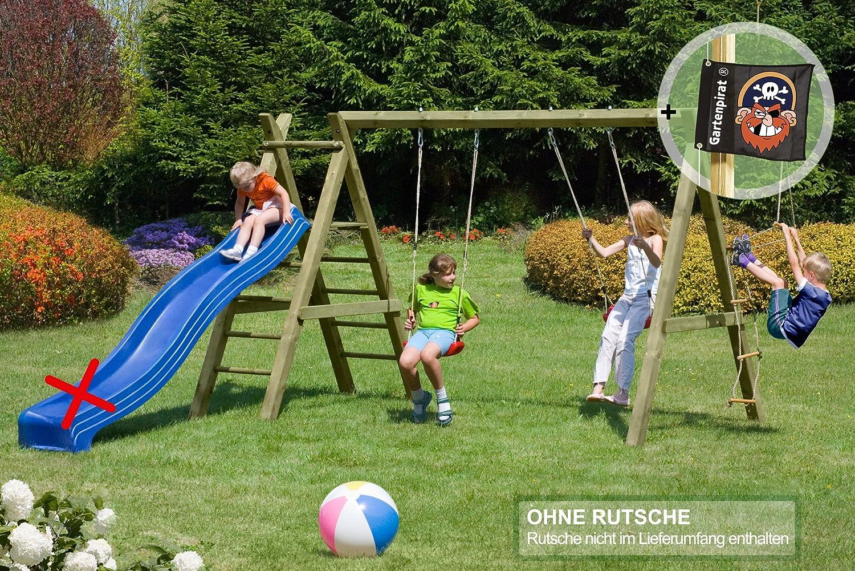 Gartenpirat Schaukelgestell Holz Premium 5.2 Doppelschaukel günstig online kaufen
