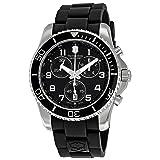 Victorinox Swiss Army Men's 241431 Maverick Black Dial Stainless Steel Watch (Color: Black)