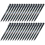 Tombow Fudenosuke Brush Pen (GCD-112), Soft Tip, Black Body, Value Set of 30 (Color: Soft Tip (Black), Tamaño: 30-pack)