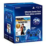 Ultimate Combo Pack - Infamous 1&2 Dual Pack & Blue Dualshock 3