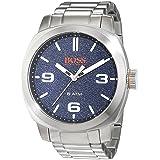 BOSS Orange Men's Quartz Stainless Steel Casual Watch, Color Silver-Toned (Model: 1513419) (Color: blue)