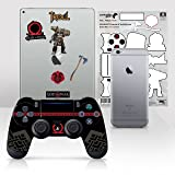 Controller Gear Officially Licensed God of War Dualshock 4 Wireless Controller and Tech Skin Set Red and Black - PlayStation 4