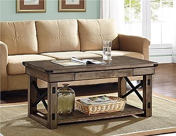 Altra Furniture Wildwood Coffee Table, Rustic Gray