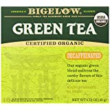Bigelow Decaffeinated Organic Green Tea Bags, 40-Count Box, Green Tea Bags, All Natural, Gluten Free, Rich in Antioxidants (Color: Green, Tamaño: 40 CT)