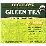 Bigelow Decaffeinated Organic Green Tea Bags, 40-Count Box, Green Tea Bags, All Natural, Gluten Free, Rich in Antioxidants (Color: Green, Tamaño: 40 CT)
