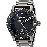 Nixon Men's 'Diplomat SS' Swiss Quartz Stainless Steel Watch, Color:Black (Model: A2771885) (Color: Polished Gunmetal/Lum, Tamaño: One Size)