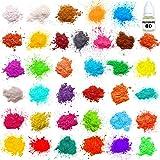 Mica Powder - Soap Making Kit - Powdered Pigments Set - Soap Making dye - 36 Coloring - Hand Soap Making Supplies - Resin Dye - Organic Mica Powder (Tamaño: 36)