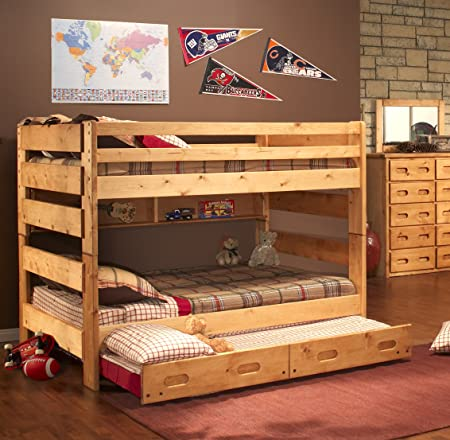 Chelsea Home Full Over Full Bunk Bed W/ Trundle Unit In Cinnamon - Without Trundle Unit