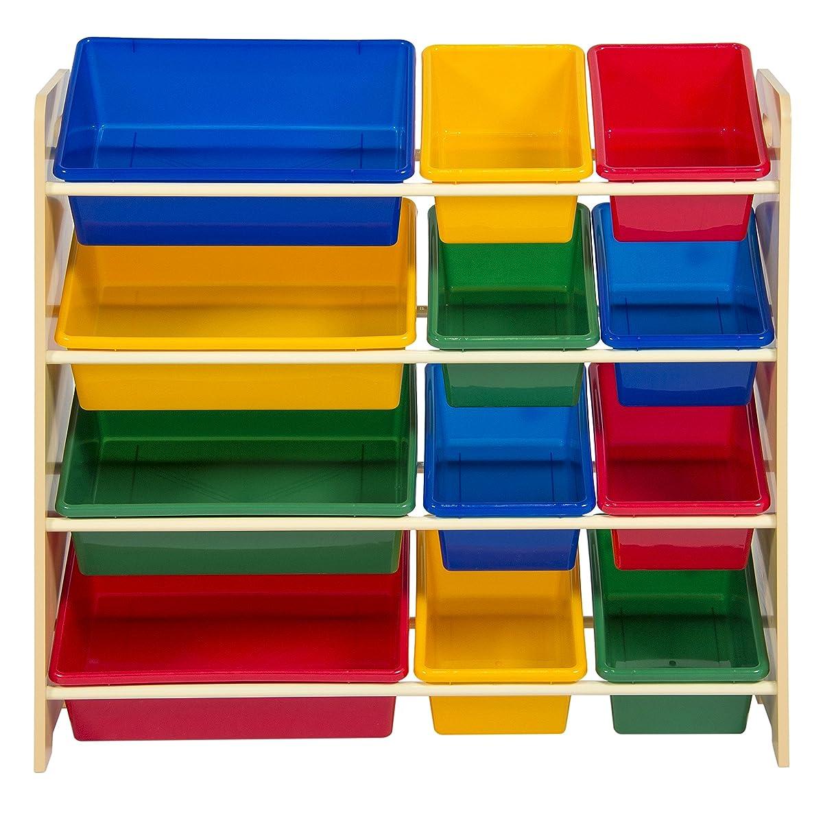 Best Choice Products Toy Bin Organizer Kids Childrens Storage Box Playroom Bedroom Shelf Drawer