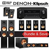 Klipsch RP-280F 7.1.2-Ch Reference Premiere Dolby Atmos Home Theater System with Denon AVR-X3400H 7.2-Channel 4K Network AV Receiver