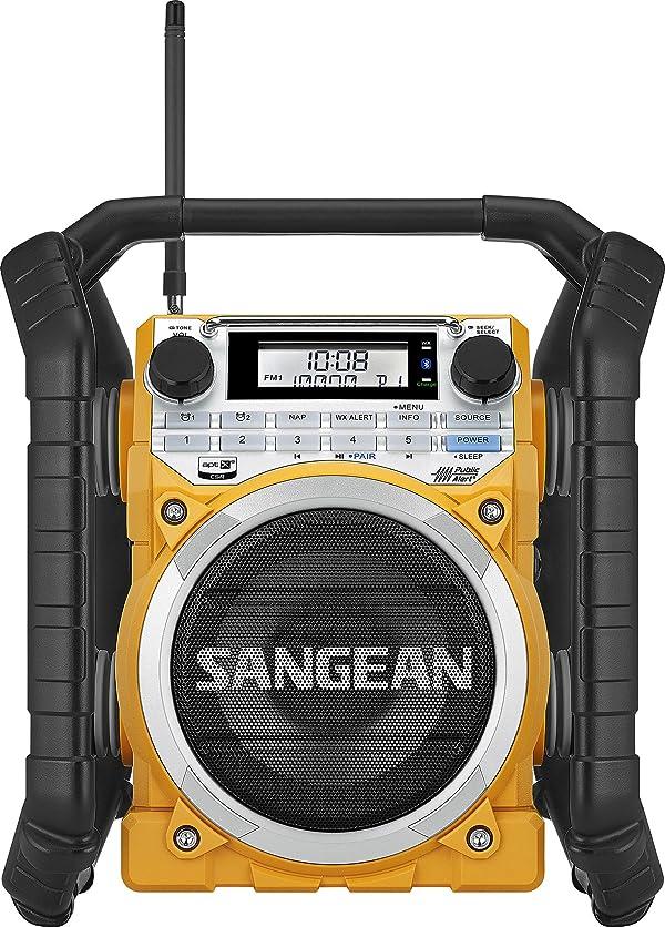 Sangean U4 AM/FM-RBDS/Weather Alert/Bluetooth/Aux-in Ultra Rugged Rechargeable Digital Tuning Radio