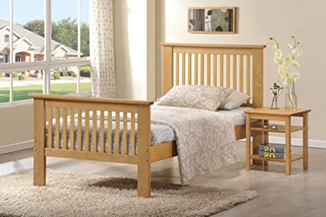 Ideal Furniture Howard Frame Bed, Wood, Oak, King