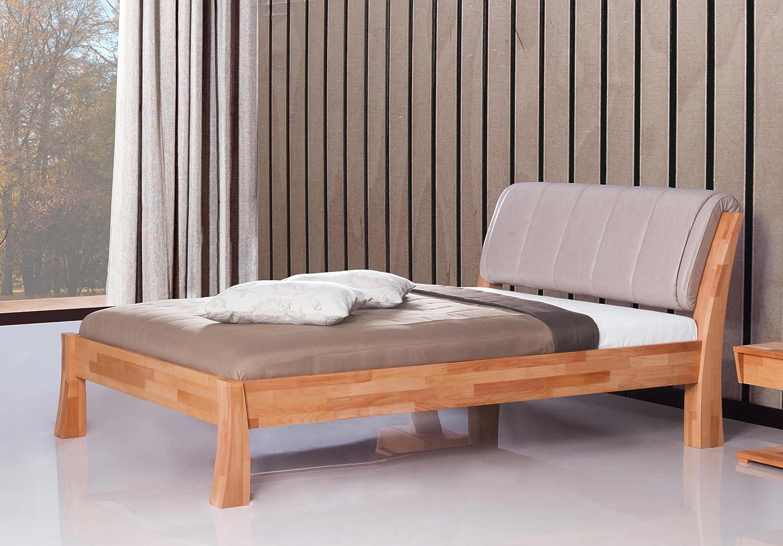 Stilbetten Bett Holzbetten Barcelona Kernbuche mit Polster und Bettkasten 180×200 cm bestellen
