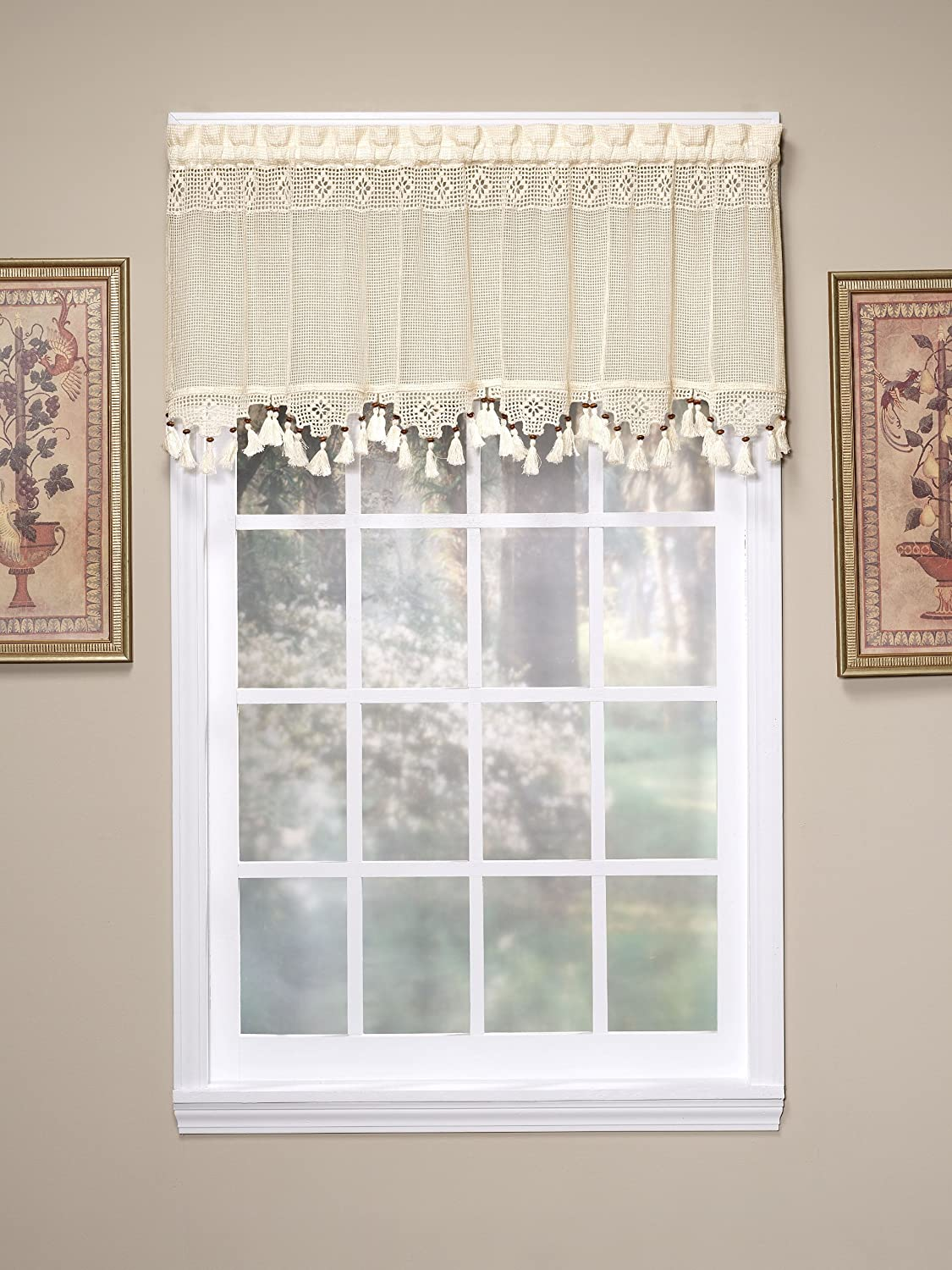 Today S Curtain Gettysburg Knitted 20 Inch Crochet With