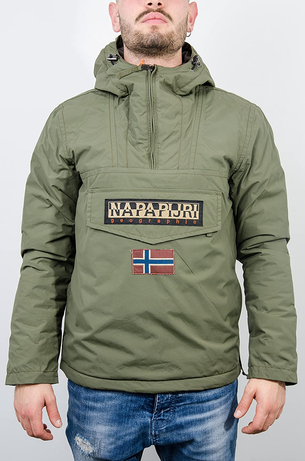 Napapijri Hooded Thermal Rainforest Jacket Rot