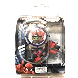 Ultimate Spider Man Boy's LCD Watch with Interchangeable Slide-Ons