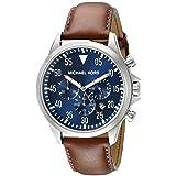 Michael Kors Men's Gage Brown Watch MK8362 (Color: Brown/Navy, Tamaño: One Size)