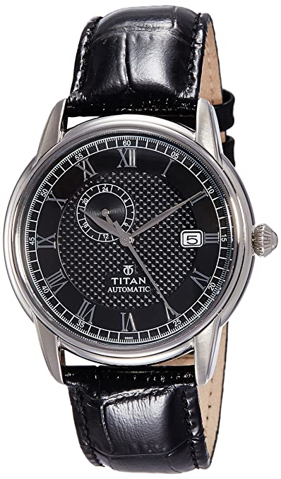 Titan Analog Black Dial Men's Watch - 90037SL01J at amazon