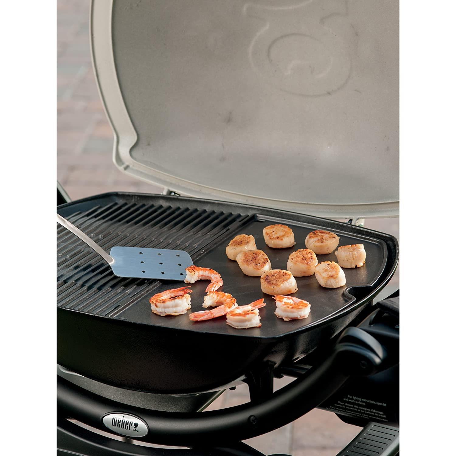 weber 6559 original griddle for q 2000 grill new free. Black Bedroom Furniture Sets. Home Design Ideas