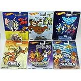 Hot Wheels Pop Culture Hanna-Barbera Complete Set of 6 - Flintstones, Scooby-Doo, Yogi Bear, The Jetsons, Tom and Jerry & Hong Kong Phooey