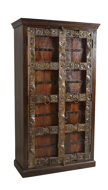 SIT-Möbel 5164-30 Schrank Almirah, 100 x 45 x 180 cm, recyceltes Holz, braun