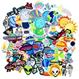 SIX VANKA 62pcs Space Planets Patches Random Assorted Iron On Embroidered Universe Applique Sew on for Kids DIY Crafts Clothes Backpacks Shoe (Color: Space Planets Patches Set)
