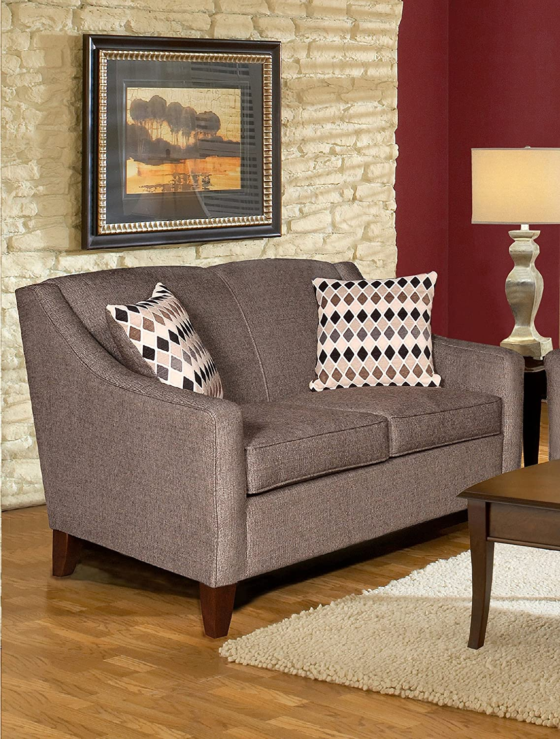 Chelsea Home Furniture Hilda Loveseat - Sagittarius Granite/Montage Pewter Pillows