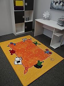 Kinderteppich Tiere gelb 200 x 300 cm  Kundenbewertung und weitere Informationen