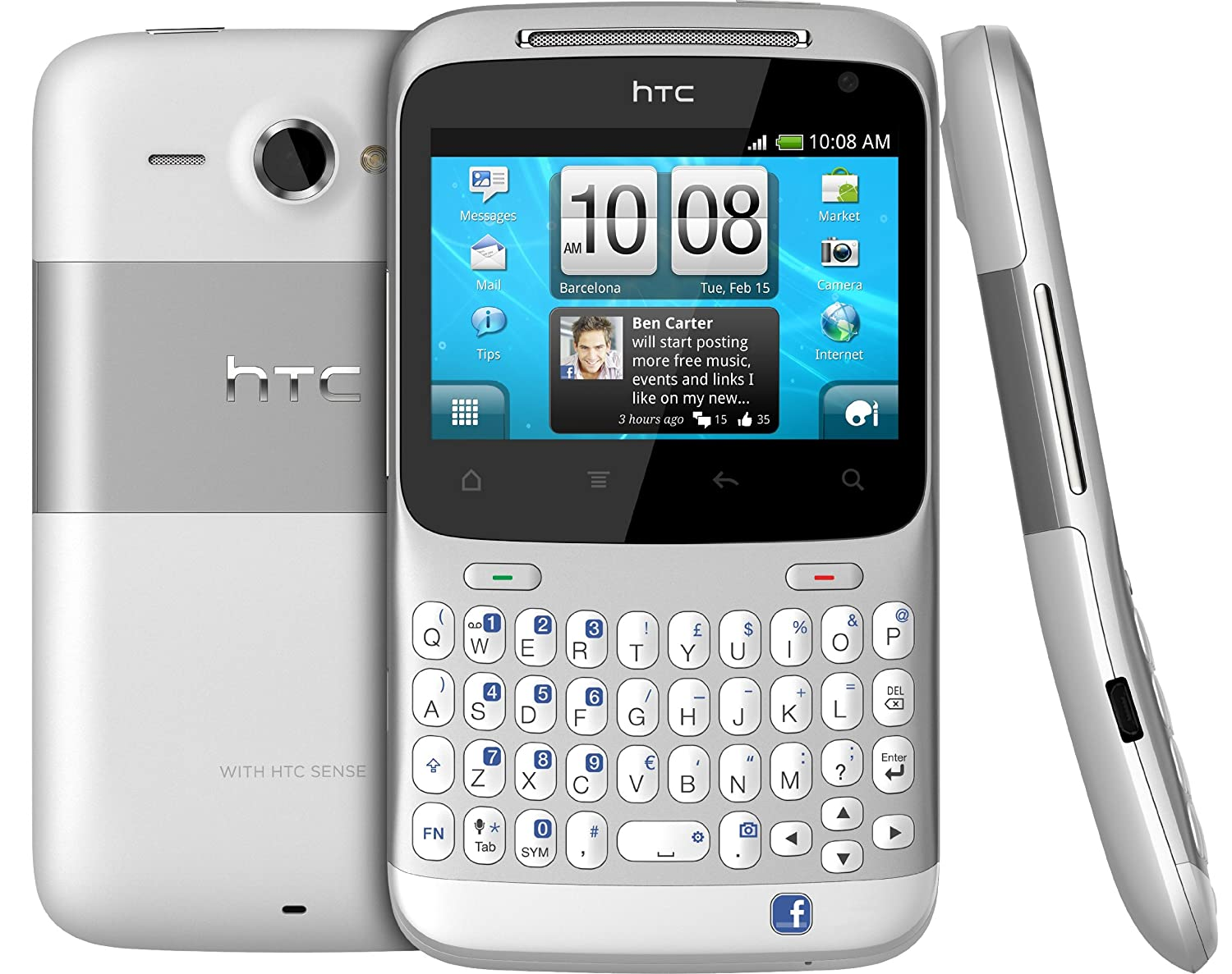 Camera Htc Qwerty Android Phones htc chacha a810e silver amazon in electronics