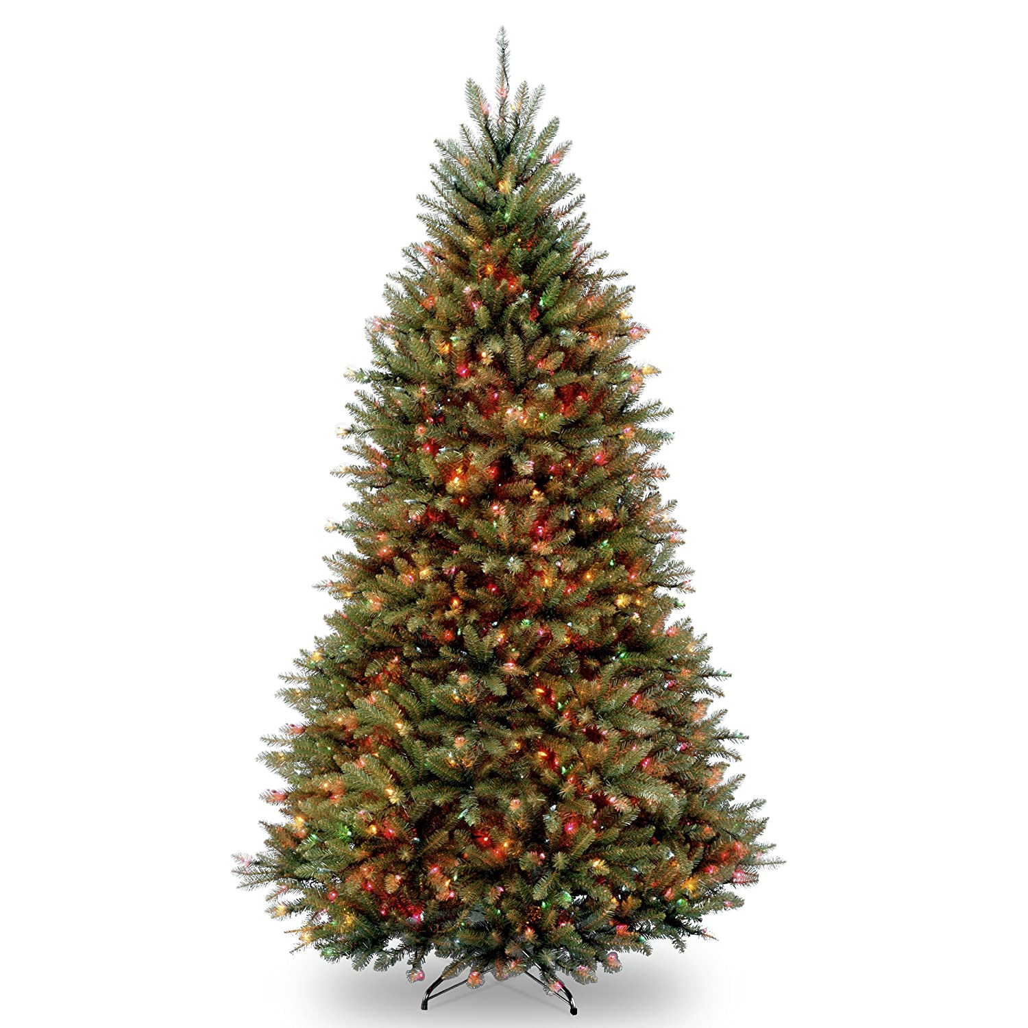 National Tree Dunhill Fir Hinged Tree with 900 Multi Lights, 9-Feet