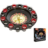EZ DRINKER Shot Spinning Roulette Game Set (16-Piece) (Color: Black, Tamaño: 16-Piece)