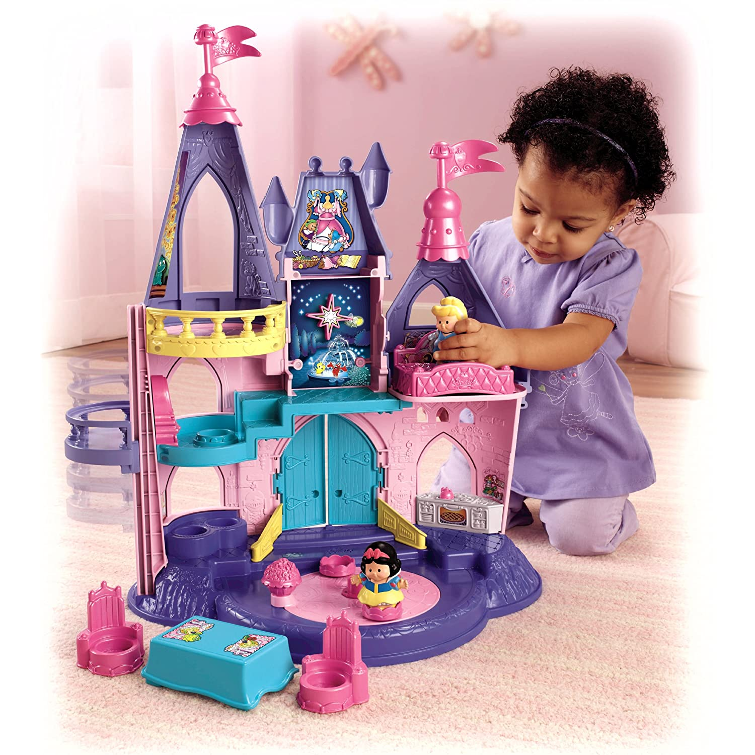 NEW Fisher-Price Little People Disney Princess Songs Palace Castle X6031 | eBay