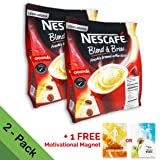 2-PACK Nescafe 3 in 1 Instant Coffee Sticks ORIGINAL - Best Asian Coffee Imported from Nestle Malaysia (56 Sticks total) (Tamaño: 2 Packs)