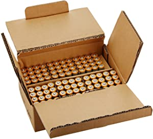 AmazonBasics AA Performance Alkaline Batteries (100-Pack) (Color: Grey, Tamaño: AA)