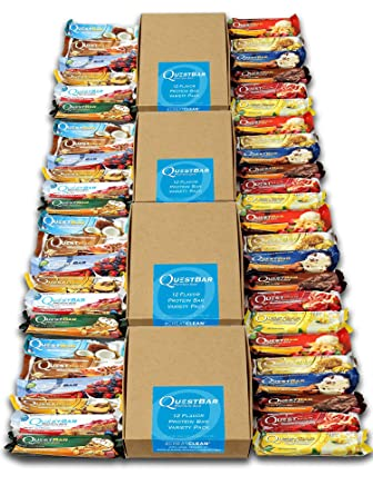 Quest Nutrition - Protein BAR - 48 Riegel á 60g – 4er Pack Box – Mix Box