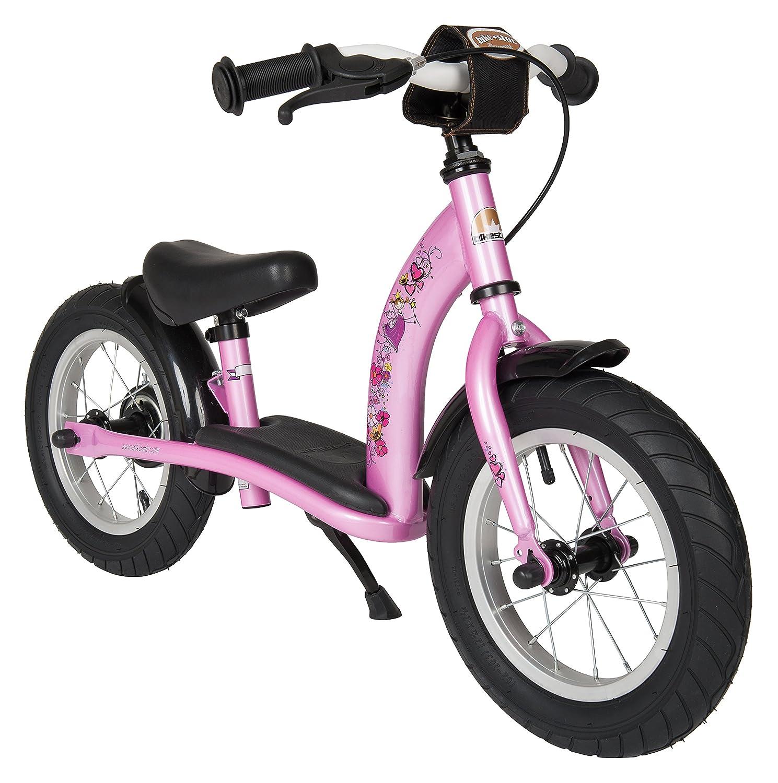 BIKESTAR® Premium Sicherheits-Kinderlaufrad für modebewusste Prinzessinnen ab 3 Jahren ★ 12er Classic Edition ★ Märchenhaft Pink als Weihnachtsgeschenk