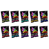 Holi Powder- Bonus Pack. 10pack Plus a Free Packet of White. 70g Each. Premium Colors- Red, Yellow, Navy Blue, Green, Orange, Purple, Pink, Magenta.Chameleon Colors (Color: Multi Color)