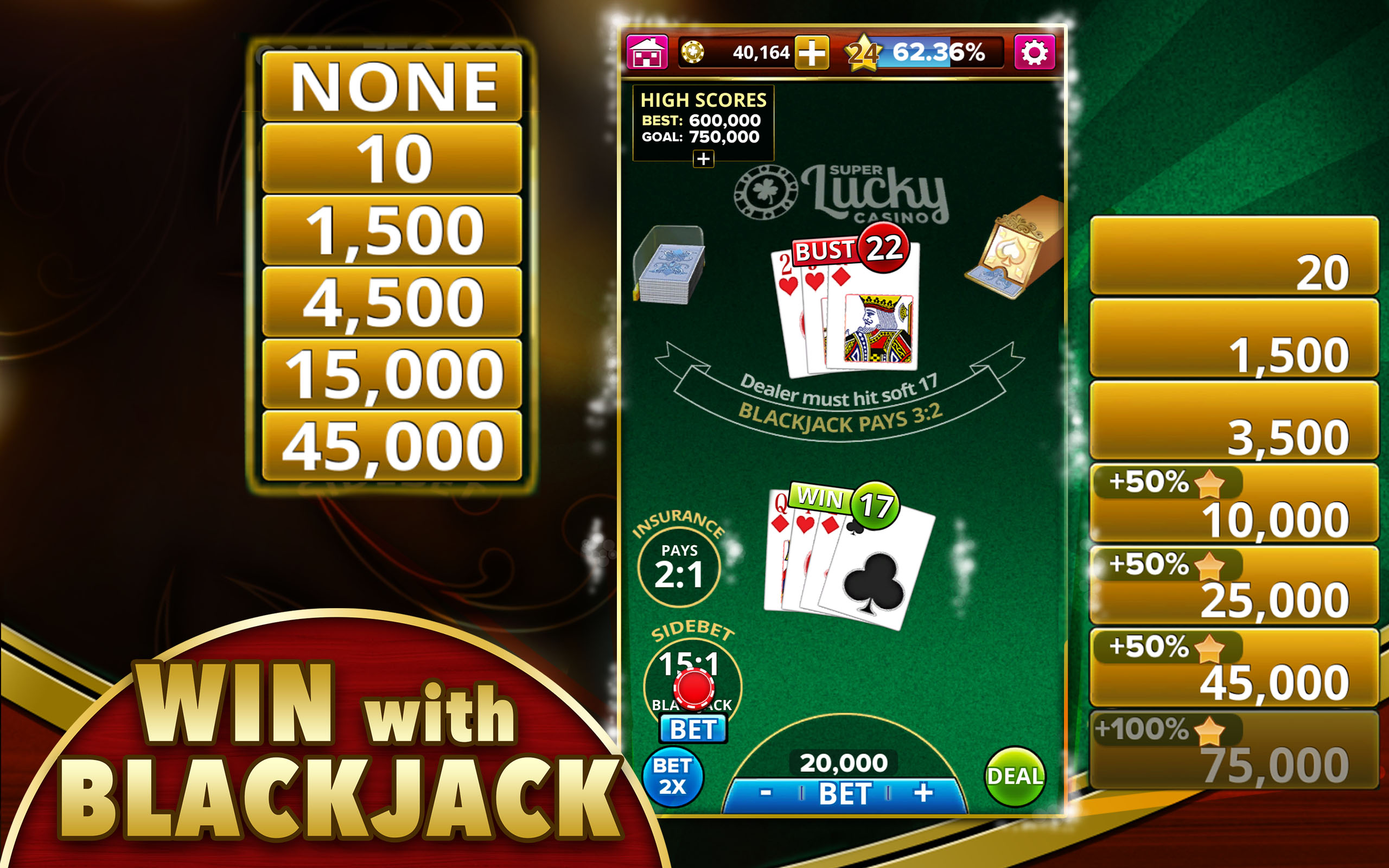 Blackjack Super 21 | Casino.com in Deutsch