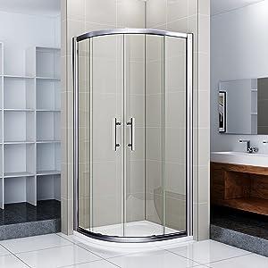 80x80x195cm Runddusche Schiebetür Duschtür Echtglas Duschkabine Duschabtrennung   Kundenbewertung und weitere Informationen