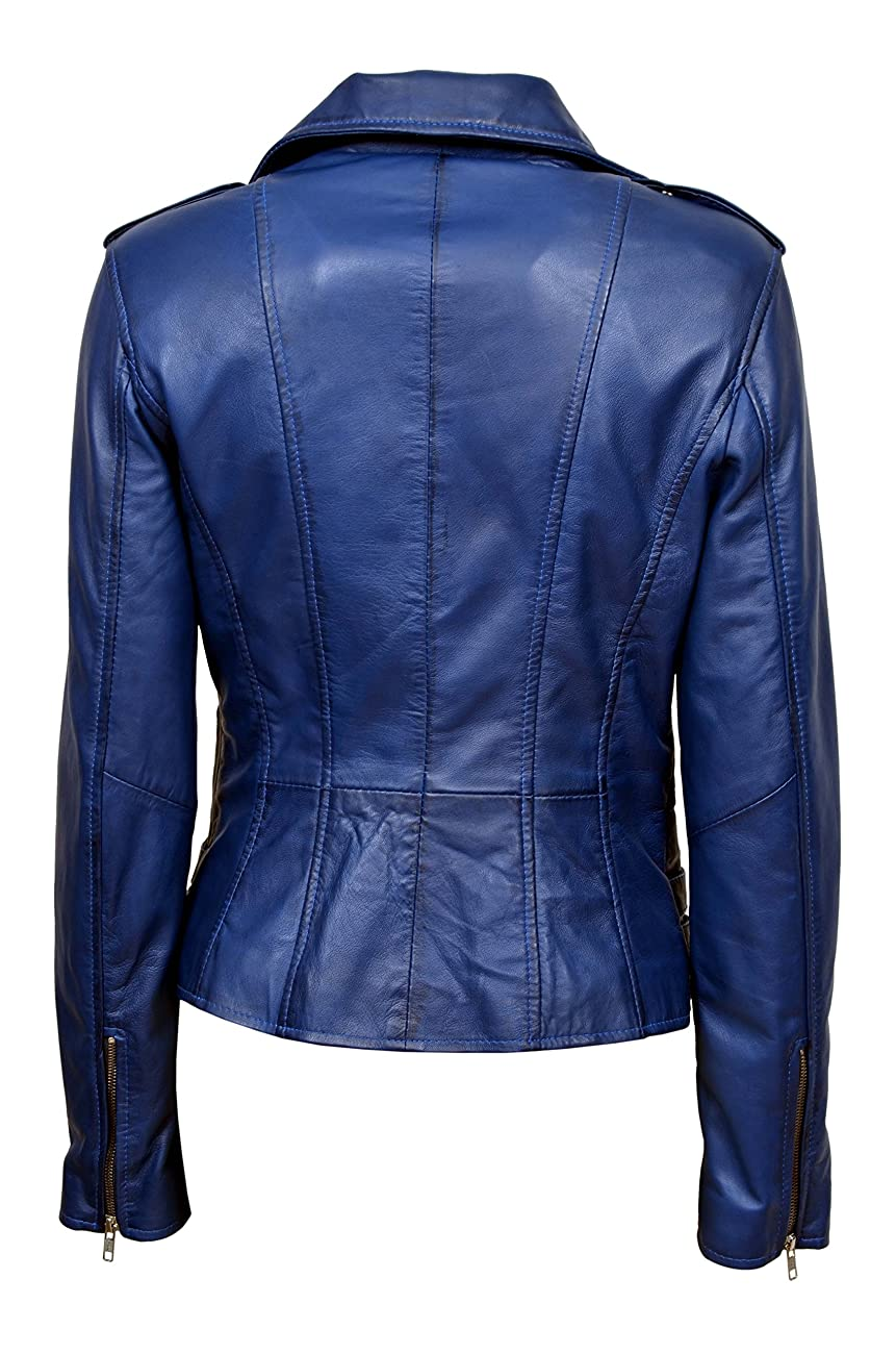 Smart Range Women's Mystique Vintage Retro Motorcycle Designer Leather Jacket 1