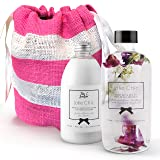 Body Lotion Gift Sets for Women - Bath Oil Set Gifts for women - Vegan Moisturizer Body Oil - Scented Spa Gift