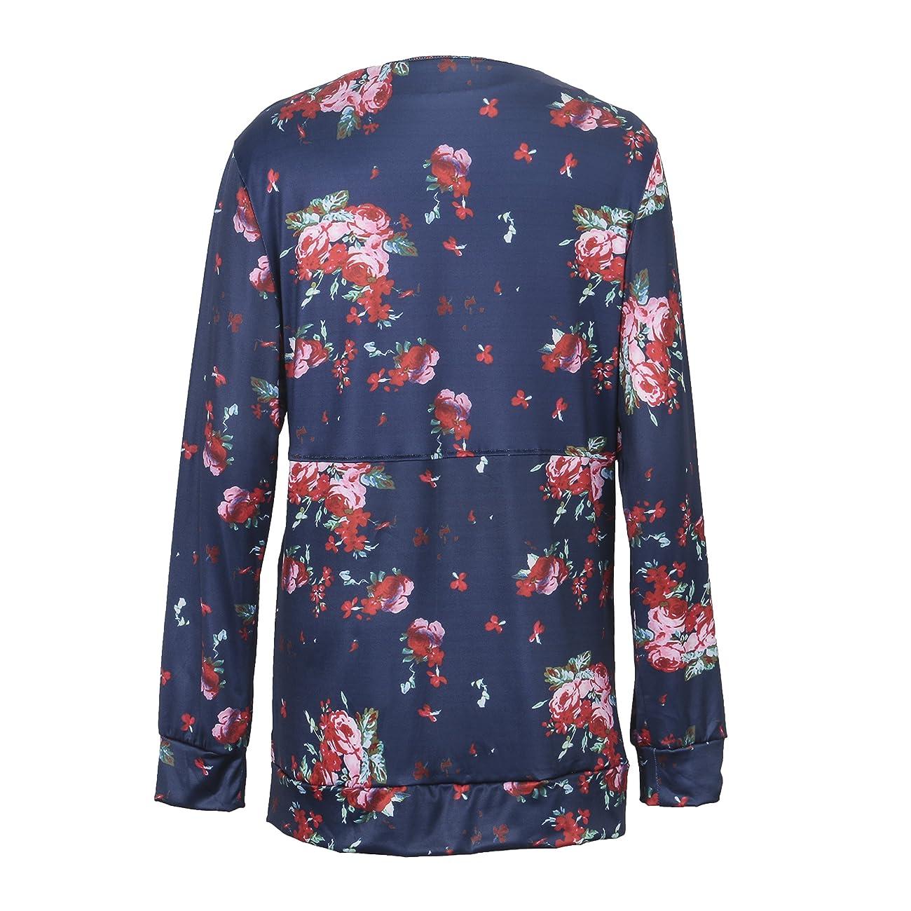Walant Women Floral Long Sleeve Kimono Boyfriend Cardigans Coat Tops Outwear 3