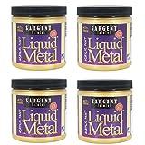 Sargent Art 22-1181 8-Ounce Liquid Metal Acrylic Paint, Gold (4-Pack) (Color: 4-Pack)