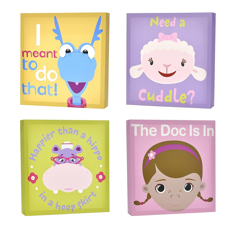 Disney Doc McStuffins Canvas Wall Art (4-Piece) doc mcstuffins jingle bell doc