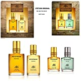 Stetson by Coty for Men 2 Gift Sets ~ 4 Total Items ~ Original Cologne and Original and Fresh Aftershave Collection Holiday Bundle