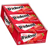 Trident Sugar Free Gum, Strawberry Twist, 14 Pieces (Pack of 12) (Tamaño: V2 - Trid Fruit Tray)