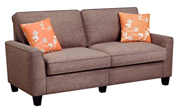 "Serta RTA Vivienne Collection, 61"" Fabric Loveseat Sofa, Camilla Taupe, CR46231P"